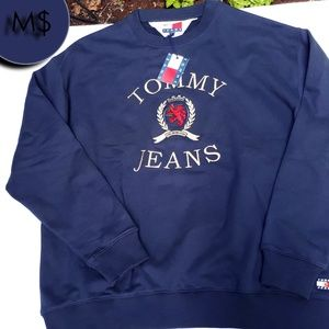 Tommy Jeans Crew Neck Navy Blue NWT XXL